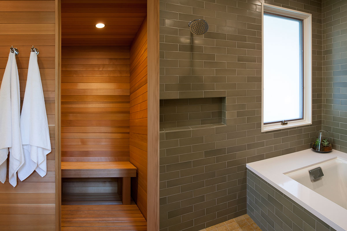 Sauna bathroom best home design 2018 for Master bathroom with sauna